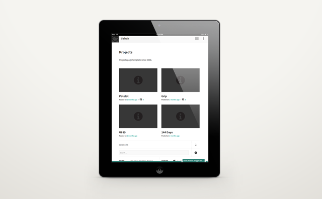 Sabak portfolio WordPress theme